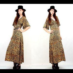 1980s leopard print dress